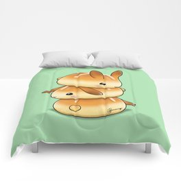 Hot Cross Bunbuns Comforters