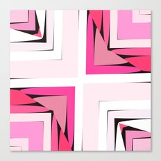 Pink Corners Canvas Print