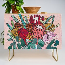 Australian Native Bouquet of Flowers after Matisse Credenza