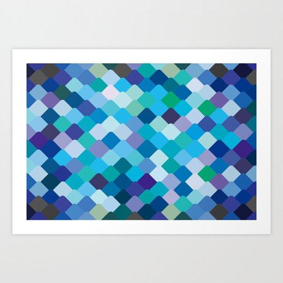 Blue Scales Art Print