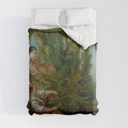 """François Boucher """"L'Appeau (also known as L'Oiseau pris dans les filets)"""" Comforters"""