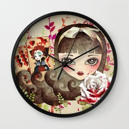 Hidden Garden Wall Clock
