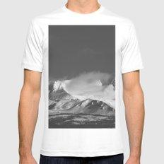 Snowy Peaks MEDIUM White Mens Fitted Tee