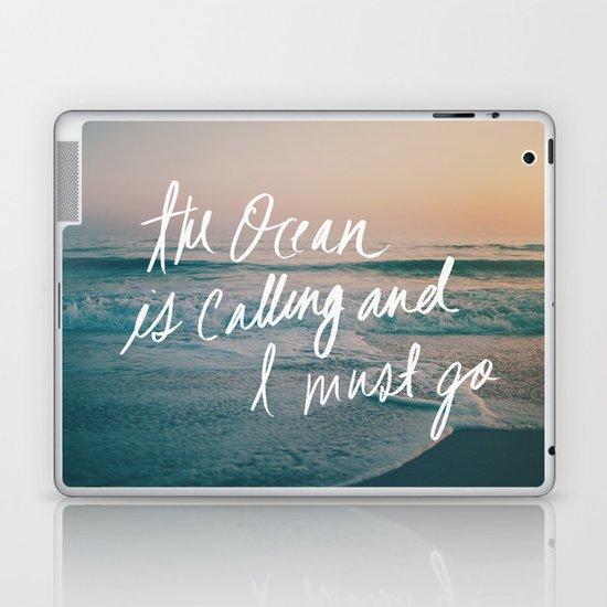 The Ocean is Calling by Laura Ruth and Leah Flores  Laptop & iPad Skin
