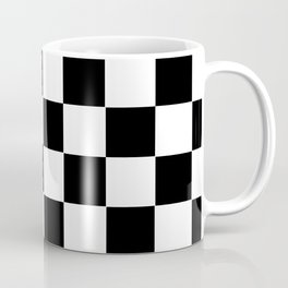 Checker Cross Squares Black & White Coffee Mug