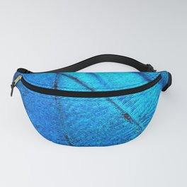 Exotic Blue Butterfly Wing Macro Fanny Pack
