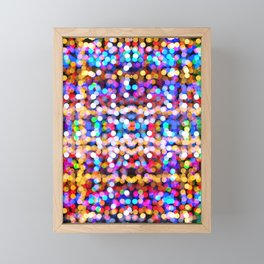 Multicolored lamp shades Framed Mini Art Print