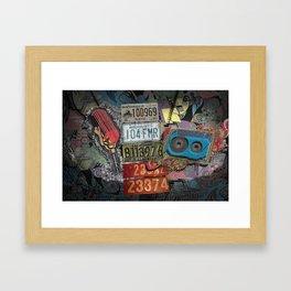 Retro Plates Framed Art Print
