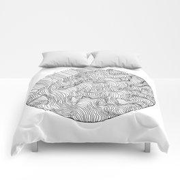 Vertigo Adrift (Vector) Comforters