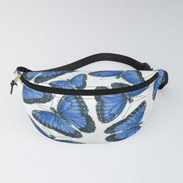 Blue morpho butterfly pattern design Fanny Pack