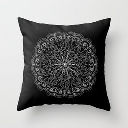 Mandala, Exhibits Radial Balance, Spiritual and Ritual Symbol Throw Pillow