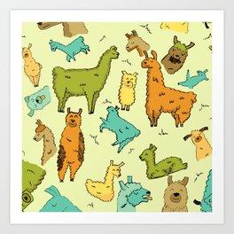 Llots of Llamas Art Print