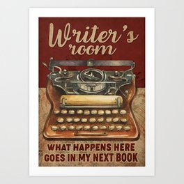 Writer Writer's Room Art Print