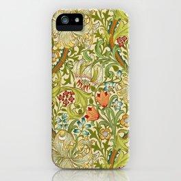 William Morris Golden Lily Vintage Pre-Raphaelite Floral iPhone Case