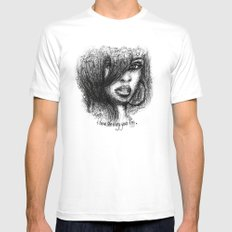 I love the way you lie. Mens Fitted Tee White MEDIUM
