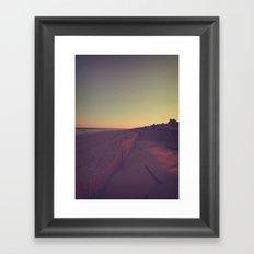 Sunset on the Jersey Shore Framed Art Print