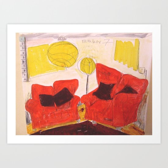 Livingroom. Art Print