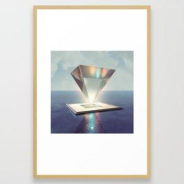 GLASS PYRAMID - ∀ Framed Art Print