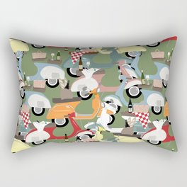 Vespa Tailgate Rectangular Pillow