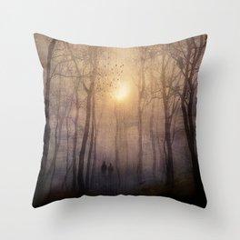 Eternal walk by Viviana Gonzalez Throw Pillow