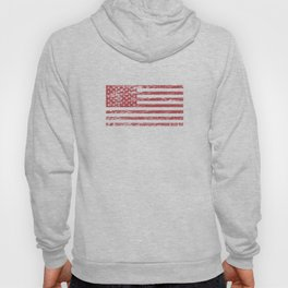The Flag of the  USA with Rusty Effect II Hoody