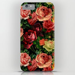 Vintage & Shabby chic - floral roses flowers rose iPhone Case