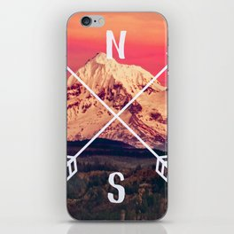 Snowy Mountain Compass iPhone Skin