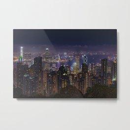 Hong Kong View Metal Print