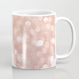 Rosegold Glitter Bokeh Glam Pattern Coffee Mug