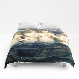 "Evelyn De Morgan ""The Sea Maidens"" Comforters"