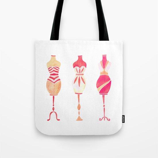 Vintage Dress Forms – Pink Ombré Palette Tote Bag