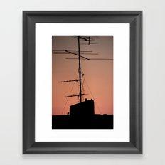 Antenna in its natural habitat Framed Art Print