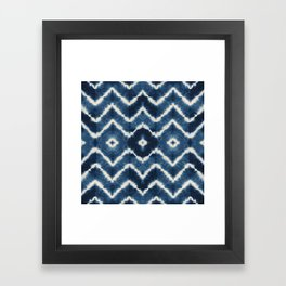 Shibori, tie dye, chevron print Framed Art Print