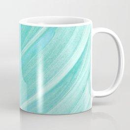Jade Ocean Waves in Watercolor Coffee Mug