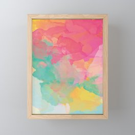 colored explosion Framed Mini Art Print
