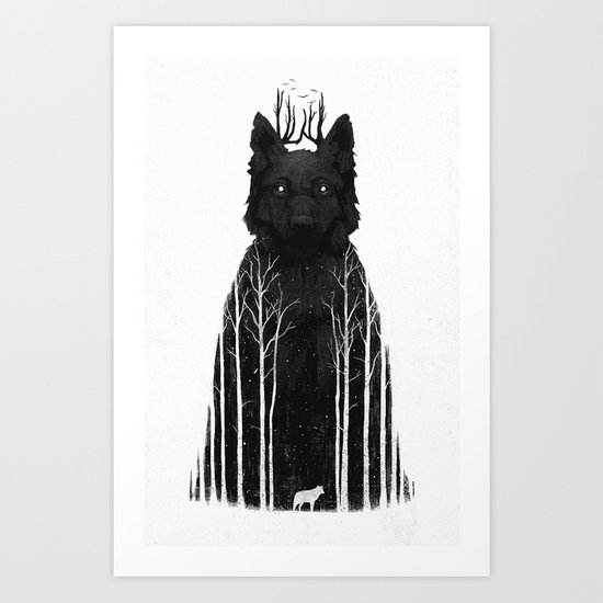 The Wolf King Art Print