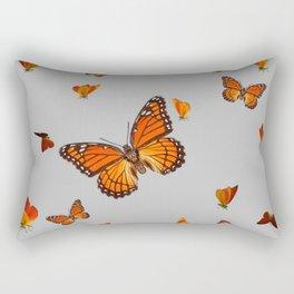 FLOCK OF ORANGE MONARCH BUTTERFLIES ART Rectangular Pillow
