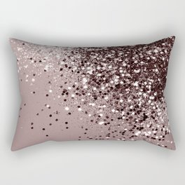Sparkling Mauve Lady Glitter #1 #shiny #decor #art #society6 Rectangular Pillow