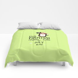 Real Pirates are born in JULY T-Shirt D3dca Comforters