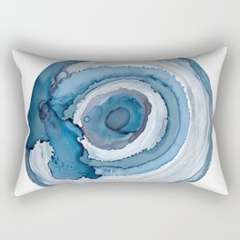 Blue Agate Painting Rectangular Pillow