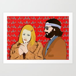MARGOT AND RICHIE Art Print