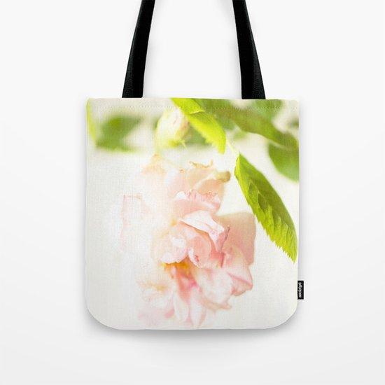 Romantic Soft Pink Rose Tote Bag