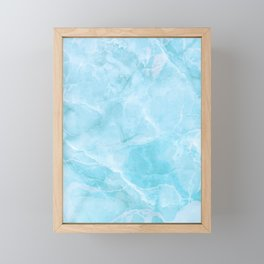 Larimar Stone Shadow Framed Mini Art Print