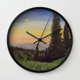 Moonlit Mountain Wall Clock