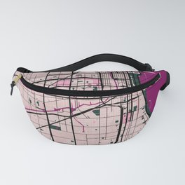Chicago Street Map // Violet Theme Fanny Pack