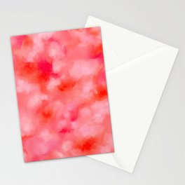 Blush Cream Coral Floral Abstract Stationery Cards
