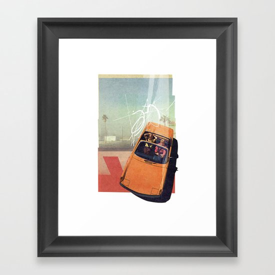 Getaway Car | Collage Framed Art Print