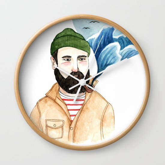 The Sailor and the Sea Wall Clock