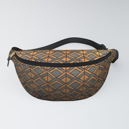 Cascading Squares Copper and Black - Art Deco Pattern Fanny Pack
