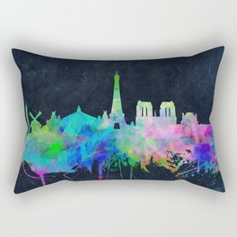 Paris skyline waterolor 2 Rectangular Pillow